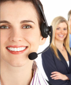 customer service representatives smiling